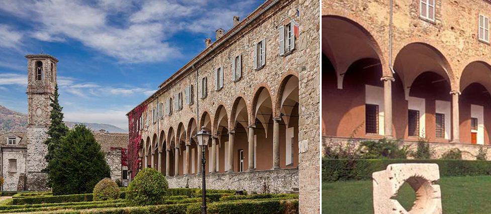 Chiostro dell'abbazia di S. Colombano – Bobbio (PC)