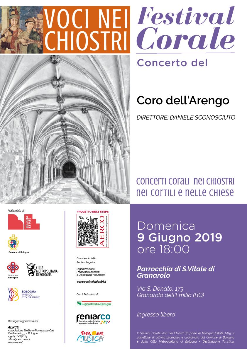 Comune Di Granarolo Dell Emilia 9 giugno 2019 - ore: 18:00 (bo) - voci nei chiostri